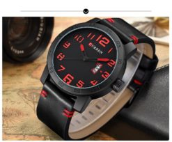 Zegarek Curren Beets czarny czerwony 1