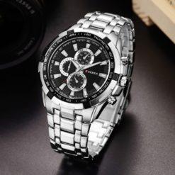 Zegarek Curren Harrison srebrny czarny 2