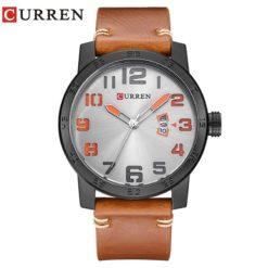 Zegarek Curren Beets brązowy pomarańczowy 7
