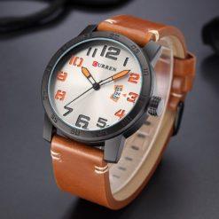 Zegarek Curren Beets brązowy pomarańczowy 8
