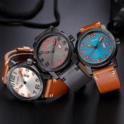 Zegarek Curren Beets brązowy pomarańczowy 9