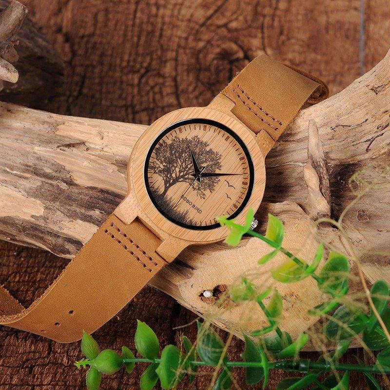 Drewniany zegarek Bobo Bird Pic Tree P20-4