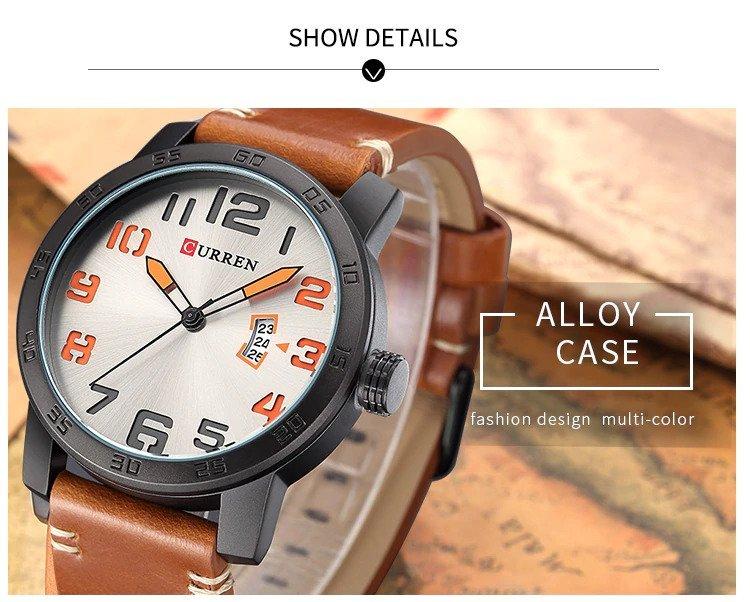 Zegarek Curren Beets brązowy pomarańczowy 12