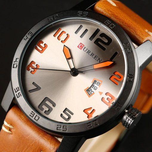 Zegarek Curren Beets brązowy pomarańczowy 5
