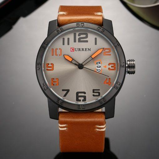 Zegarek Curren Beets brązowy pomarańczowy 1