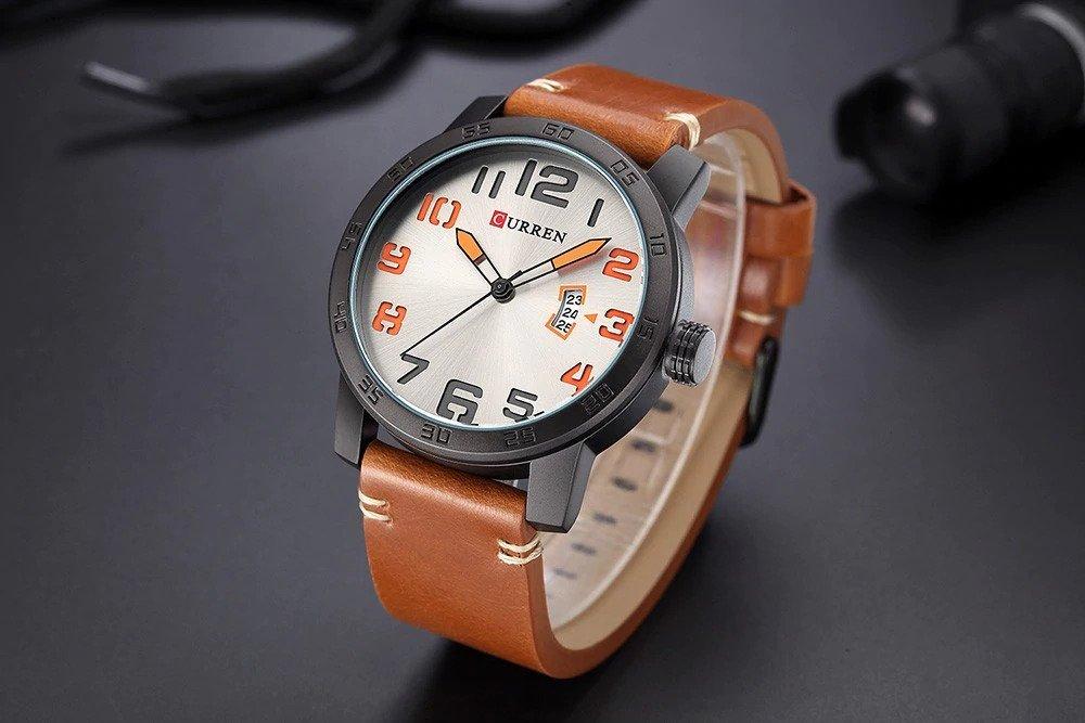 Zegarek Curren Beets brązowy pomarańczowy 15
