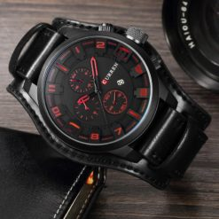 Zegarek Curren Grizzly czarny czerwony 2