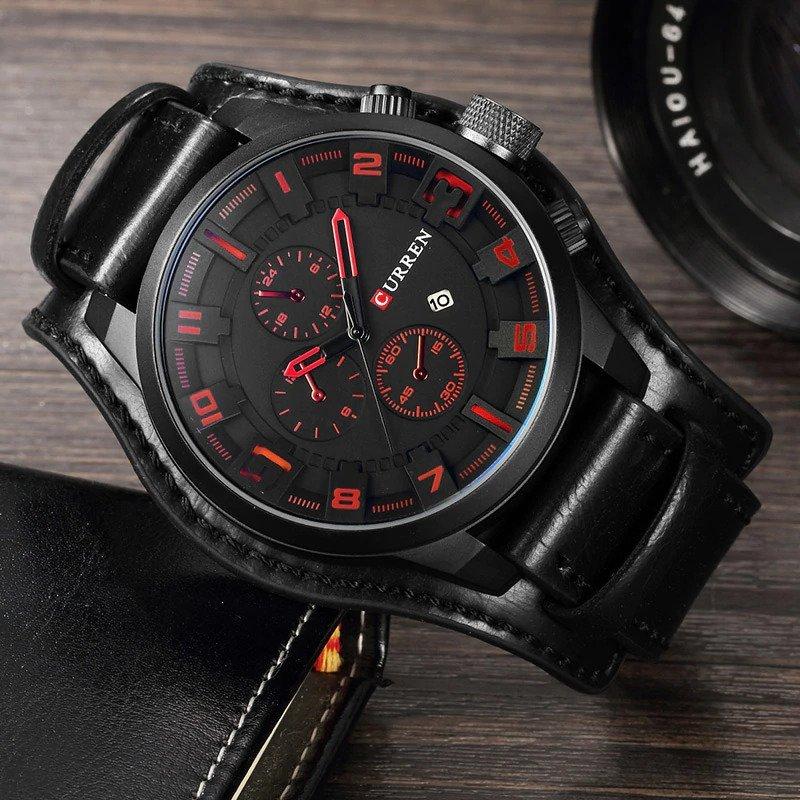 Zegarek Curren Grizzly czarny czerwony 11