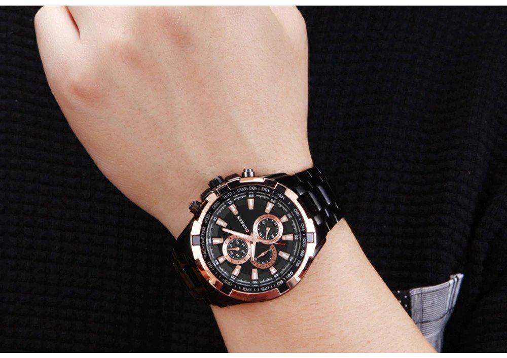 Zegarek Curren Harrison czarny złoty 3