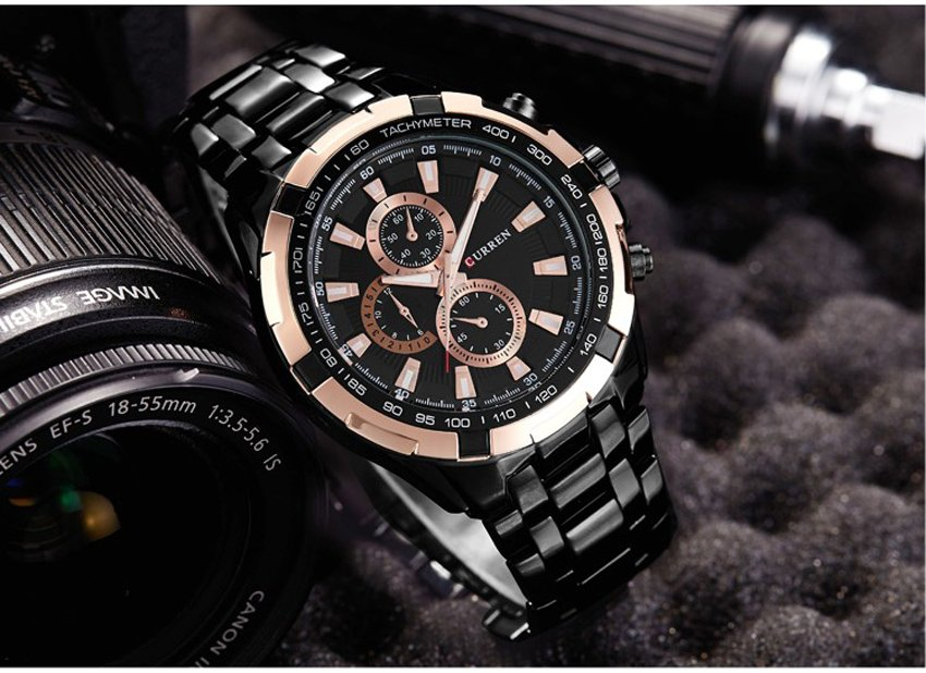 Zegarek Curren Harrison czarny złoty 4