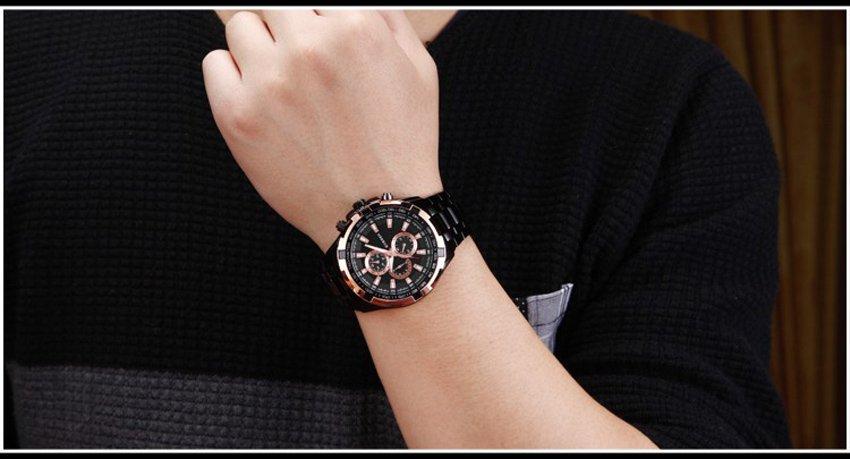 Zegarek Curren Harrison czarny złoty 5