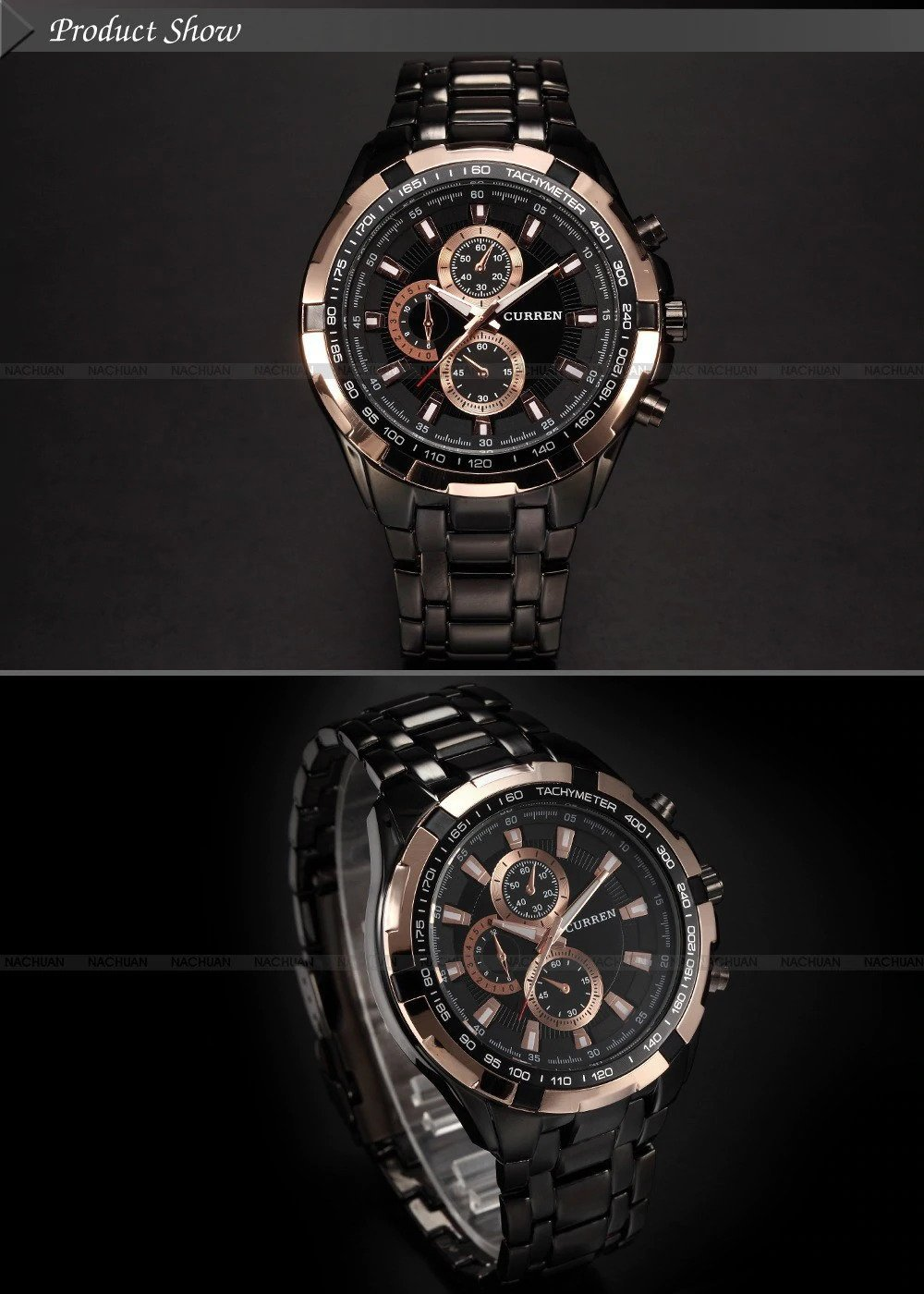 Zegarek Curren Harrison czarny złoty 6