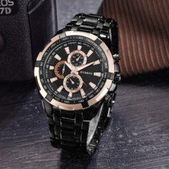 Zegarek Curren Harrison czarny złoty
