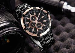 Zegarek Curren Harrison czarny złoty 2