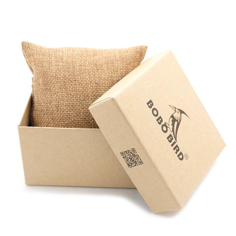Drewniany zegarek Bobo Bird Style D09 pudełko