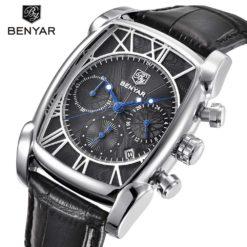 Zegarek Benyar Fashion srebrny-czarny