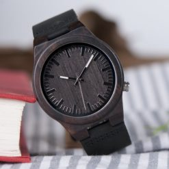 Zegarek drewniany Bobo Bird Dark B12 2