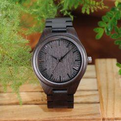 Zegarek drewniany Bobo Bird Heban H05