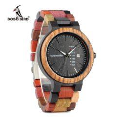 Zegarek drewniany Bobo Bird Rainbow Data p14-4