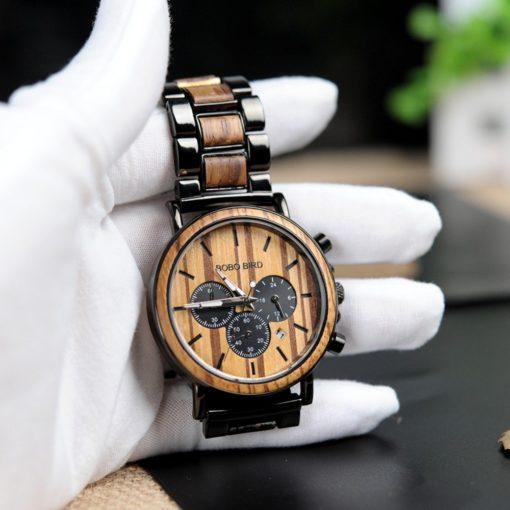 Zegarek drewniany Bobo Bird Logos