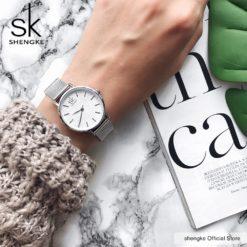 Zegarek Shengke Milan srebrny 6