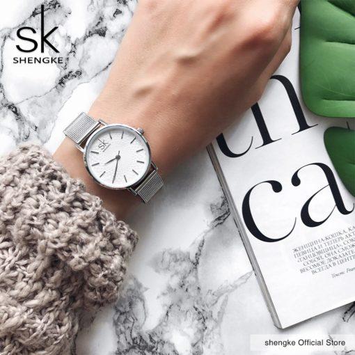 Zegarek Shengke Milan srebrny 2