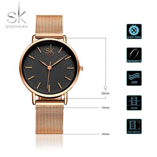Zegarek Shengke Milan złoty 3