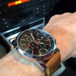 Zegarek Benyar srebrno-czarny BY5102 3