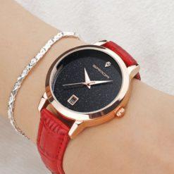 Zegarek Sanda Jane czerwony