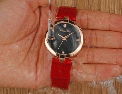 Zegarek Sanda Diamond czerwony czarny 3