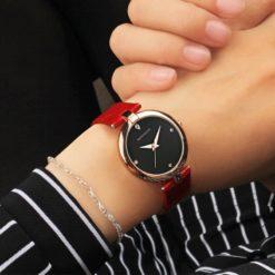 Zegarek Sanda Diamond czerwony czarny 6
