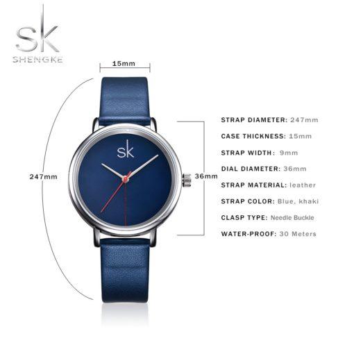 Zegarek Shengke Joy niebieski 5