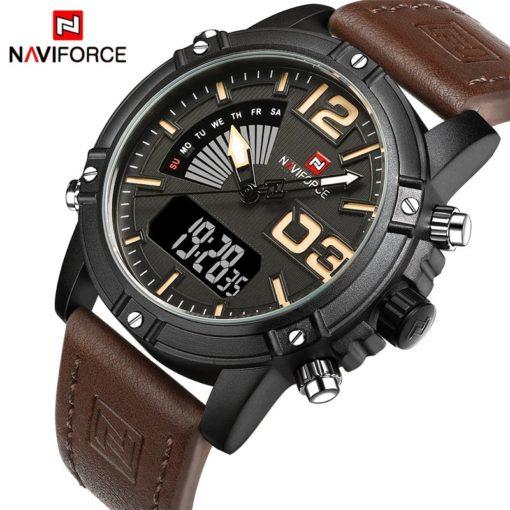 Zegarek NaviForce Top brązowy żółty