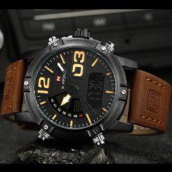 Zegarek NaviForce Top brązowy żółty 4