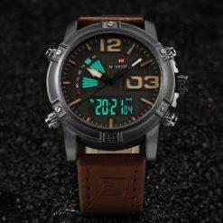 Zegarek NaviForce Top brązowy żółty 2