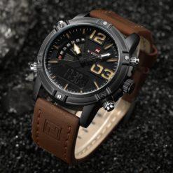 Zegarek NaviForce Top brązowy żółty 5