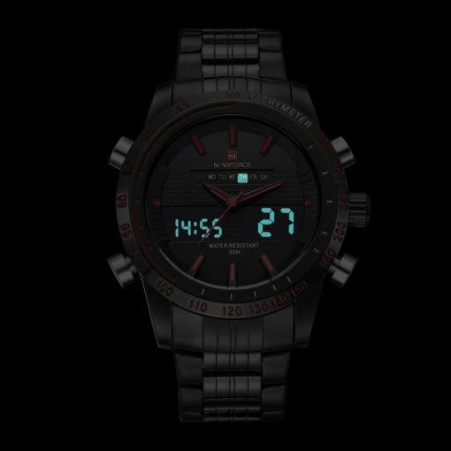 Zegarek Naviforce Power czarny czerwony