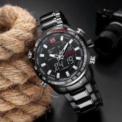 Zegarek Naviforce Rigor czarny biały 4