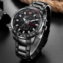 Zegarek Naviforce Rigor czarny biały 3
