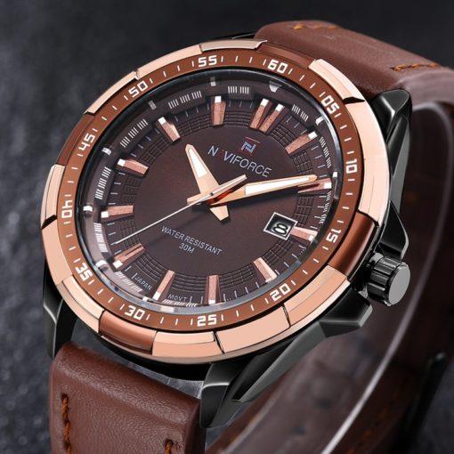 Zegarek Naviforce Harry czarny złoty 3