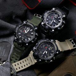Zegarek Smael Camouflage zielony 3