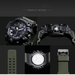 Zegarek Smael Camouflage zielony 4