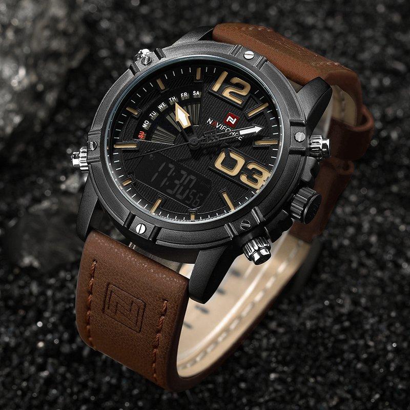 Zegarek NaviForce Top brązowy żółty 7