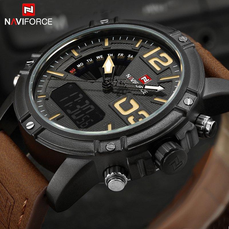 Zegarek NaviForce Top brązowy żółty 8