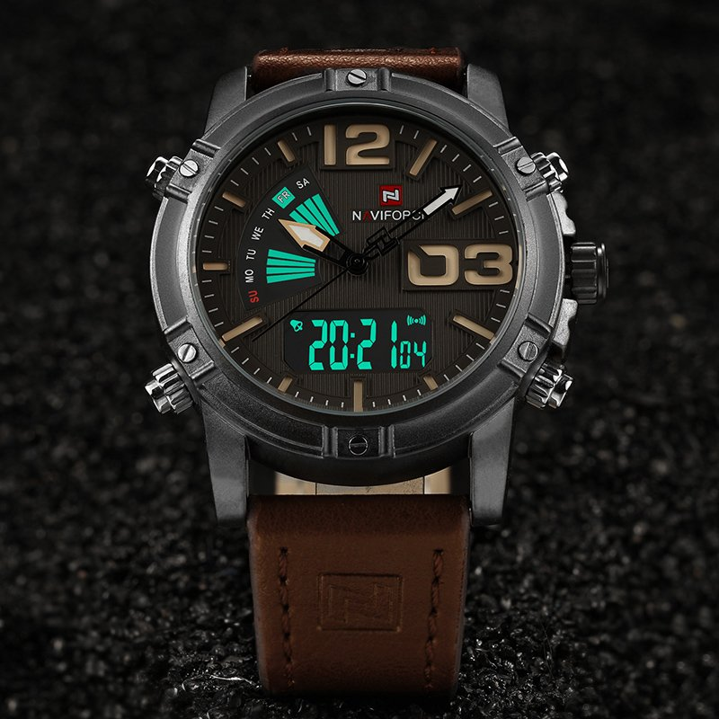 Zegarek NaviForce Top brązowy żółty 9
