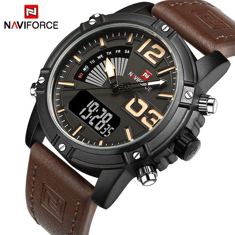 Zegarek NaviForce Top brązowy żółty 10