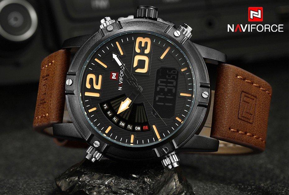 Zegarek NaviForce Top brązowy żółty 11