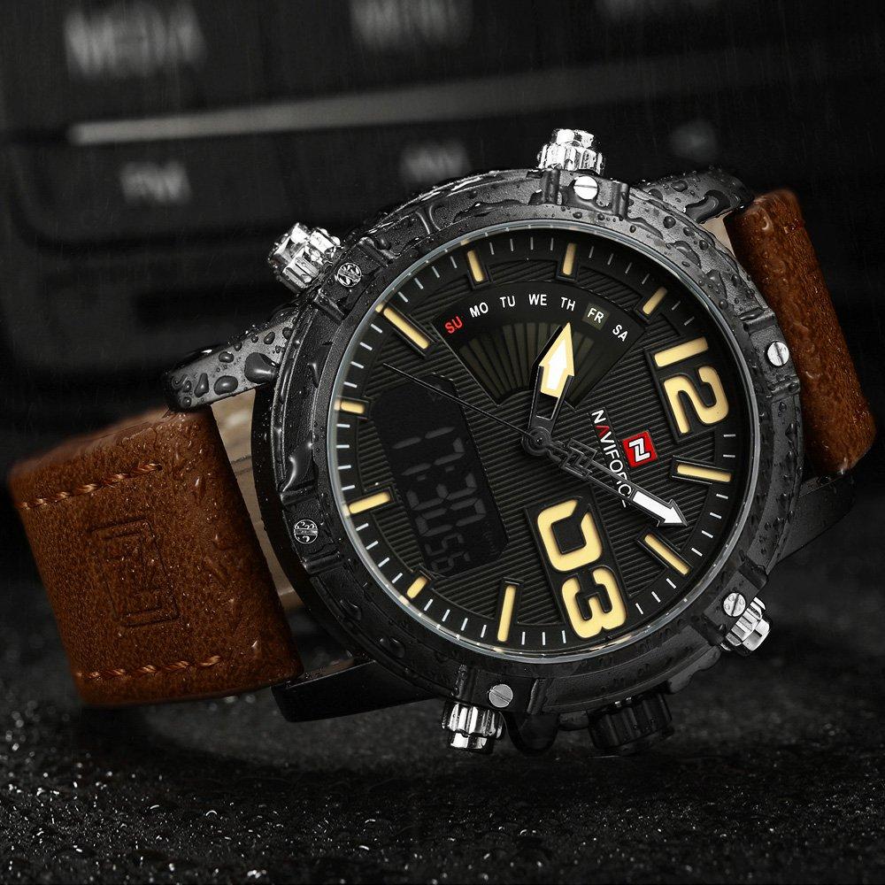 Zegarek NaviForce Top brązowy żółty 13