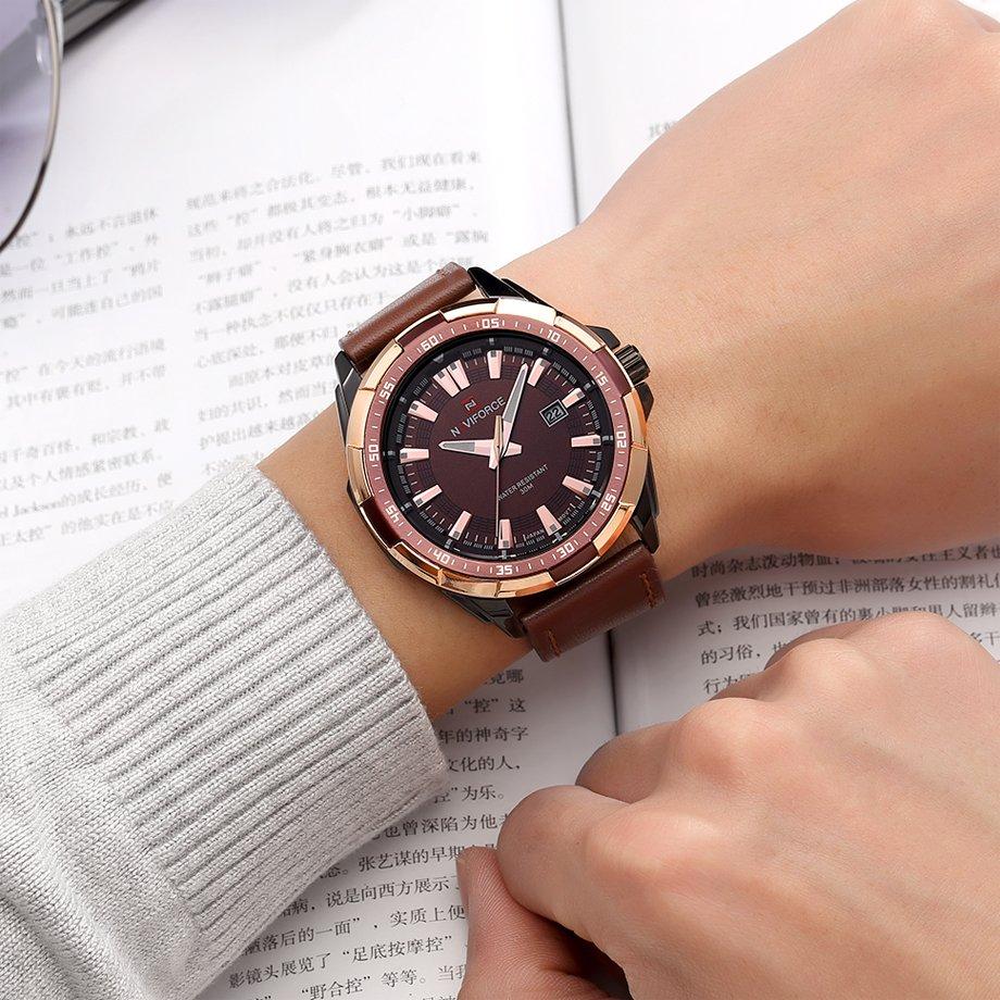 Zegarek Naviforce Harry czarny złoty 12