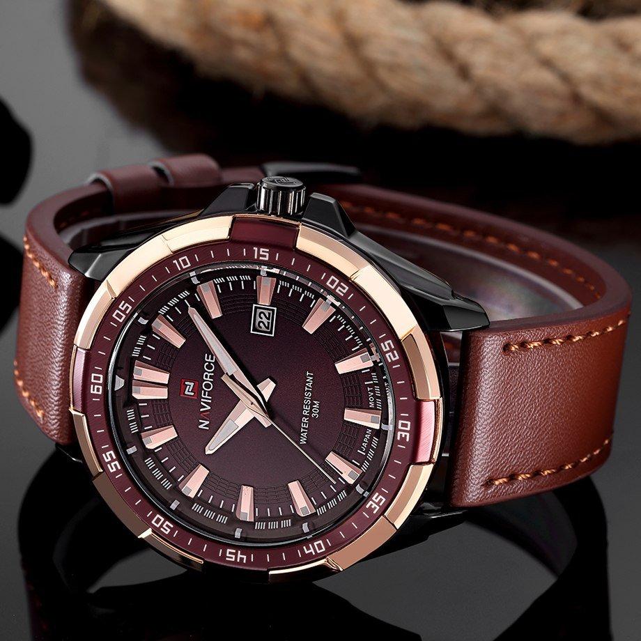 Zegarek Naviforce Harry czarny złoty 13